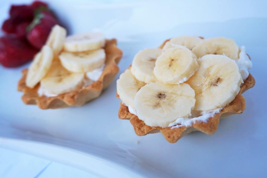 Тарталети с банан